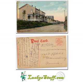 Juniata Heights Newport PA 1910 Postcard Perry County Pennsylvania