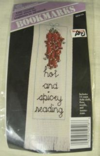 Lot of 5 SEALED Counted Cross Stitch Bookmarks Pictures NIP Flowers