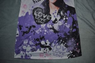 Justin Bieber Girls Nightgown Nighty Pajamas w/ LOVE Bracelet Multiple