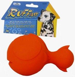 JW Pet Tough by Nature Ruffians Squeakin Dog Chew Toy Fish 7