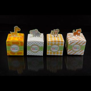 Wild Jungle Theme Favor Boxes Set of 24 Party Decorations Favors Mixed