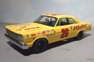 Junior Johnson Autograph Vintage NASCAR 1965 Ford Galaxie 1 24 Icons