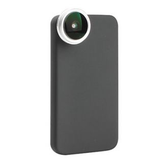 24x 190 Degree Super Fish Eye Thread Lens with Back Case for iPhone