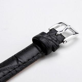 EUR € 2.66   unisex correa de cuero genuino reloj de 12mm (negro
