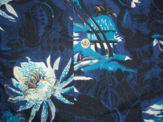 Mens Vintage Kamehameha Blue Hawaiian Shirt Medium