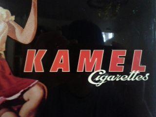 VINTAGE KAMEL CIGARETTES GENERAL STORE ADVERTISING METAL SIGN. GREAT