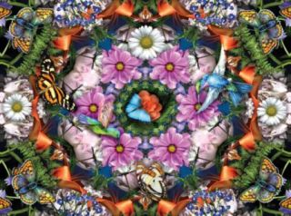 Ravensburger 13555 Flower Kaleidoscope 300 Piece Large Format Puzzle