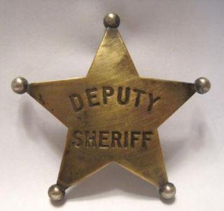 Old Deputy Sheriff Badge Los Angeles Hallmark