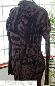 Issey Miyake Pleats Please Long Sleeve One Piece Dress 5 x Large Good