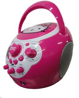 Deluxe CDG Pink Hello Kitty Portable Karaoke Machine