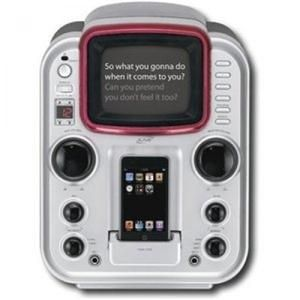 iLive CD G Karaoke Machine Dock for Apple iPod IJ328B New Open Box