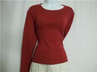 karen scott light yellow cotton shirt pl bass red cotton t shirt l