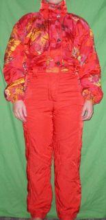 Kaelin One Piece Suit Womens 10 Red Ski Suit DH Suit Down Hill Race