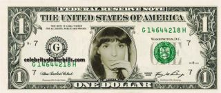 The Carpenters Karen Carpenter Celebrity Dollar Bill Uncirculated Mint