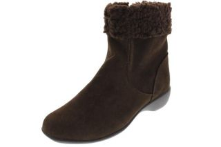 Karen Scott New Kelli Brown Faux Suede Heels Ankle Boots Shoes 6 BHFO
