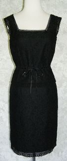 ANN TAYLOR Black Lace Cami Tank Top & Skirt Set 2 4 NEW Outfit Pencil