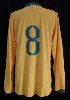Kaka Brazil Friendly Game Match Worn Hand Signed Auto Jersey 2006 2007