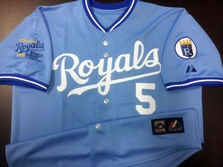 Kansas Ciy Royals 5 George Bre 1985 World Series Champion Pach