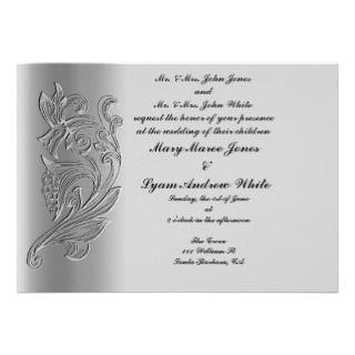 Embossed Classic Wedding invitation