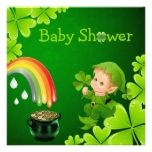 Cute St. Patricks Day Baby Shower Invites