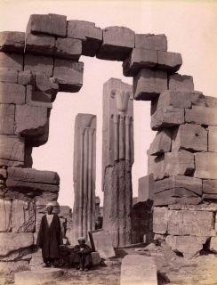 of Upper & Lower Egypt Temple of Amun Karnak Egypt Albumen Beato 1880s