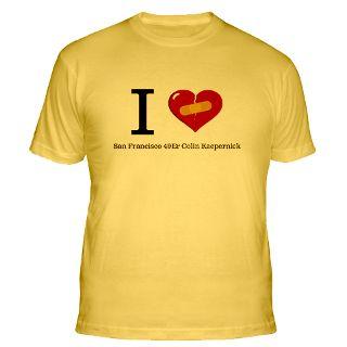 Love San Francisco 49Er Colin Kaepernick T Shirts  I Love San