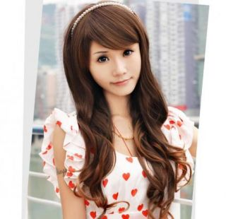 Long New Curly Fashion Brown Womens Wavy Sexy Girls Hair Full Wigs