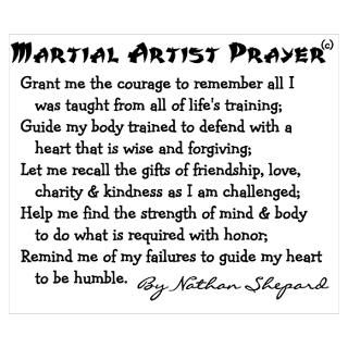 Wall Art  Posters  Karate Prayer Poem Poster