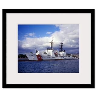 United States Coast Guard Cutter Rush docked in Pe Framed Print