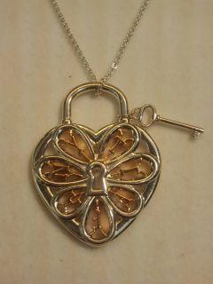 Tiffany Co Filigree Heart Pendent with Key