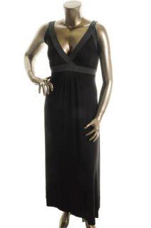 Karen Kane New Black Full Length Pull on Sleeveless Casual Dress Plus