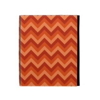 Coral and White Zig Zag Pattern. iPad Case