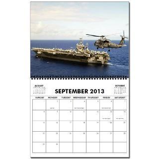 USS Ronald Reagan Ships Image 2013 Wall Calendar by quatrosales