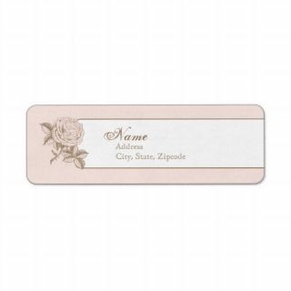 Pink Vintage French Return Address Label