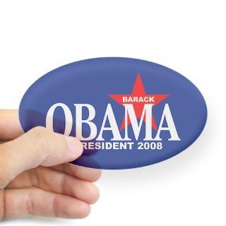 BARACK OBAMA PRESIDENT 2008 Oval Decal for $4.25