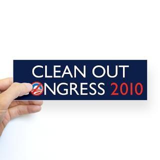 Clean Out Congress 2010 Sticker (Bumper)