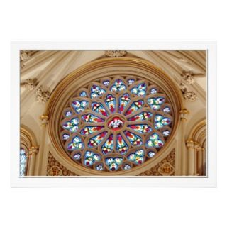 St. Josephs Cathedral   Stained Glass Window Custom Invite