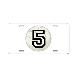 Volleyball Player Number 5 Aluminum License Plate for $19.50