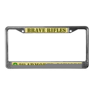 3rd ACR Brave Rifles License Plate Frame  3rd Armored Cavalry