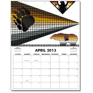 13 BEAR PRIDE FLAG DESIGNS Oversized 2013 Wall Calendar by bear_pride