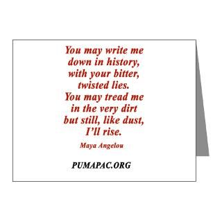 Gifts  Feminism Note Cards  Maya Angelou Note Cards (Pk of 20