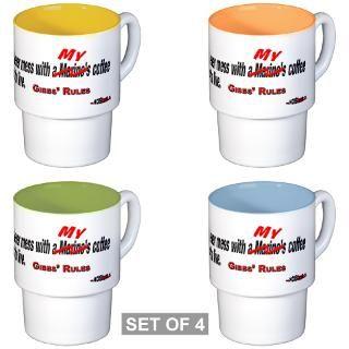 NCIS GIBBS RULE #23 (My) Stackable Mug Set(4 Mugs)