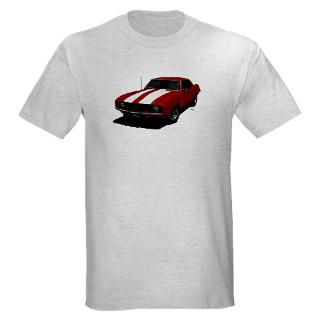 1969 Camaro Z28 Red & White T Shirt by HotzGraphics