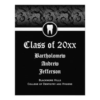 White Dental School Graduation Dentistry Invitations