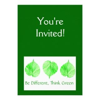 Environment Save Earth Go Green Invitations, Announcements, & Invites