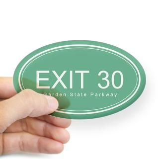 GSP Exit 30 Oval Decal for $4.25
