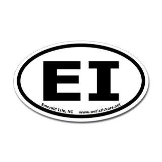 emerald isle north carolina oval car sticker $ 4 49