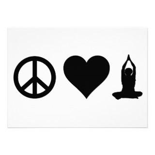 Peace Love Yoga Invitation