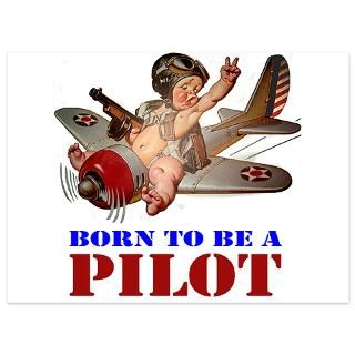 Air Force Gifts  Air Force Flat Cards  Baby Pilot_BORNTOBEAPILOT