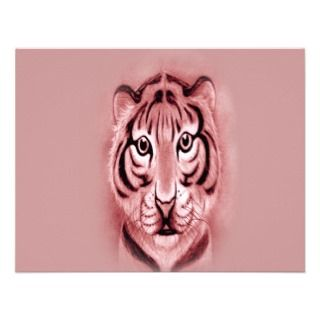 Baby Tiger Cub* portrait Design Custom Announcements